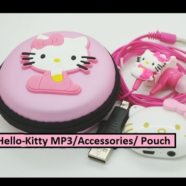 High Quality Hello Kitty MP3 Player With Accessories and Pouch (Supports Micro-S