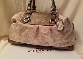Coach Ashley 3 Color Large Satchel