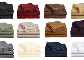 6 PC Sheet Set As Soft as Egyptian Cotton 1800 Thread