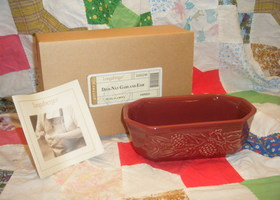 NIB Longaberger Pottery Serving Dish