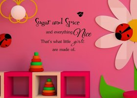 Sugar And Spice and Everything Nice - Wall Art Decal