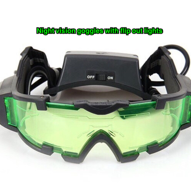 Night Vision Goggles with flip out lights