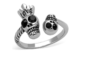 Skullies In Love Ring size 5,6,7,8,9,10 *