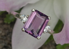 7/8/9 2 Carat Natural Amethyst 925 Sterling Silver