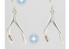 Wish Bone Dangle Earrings