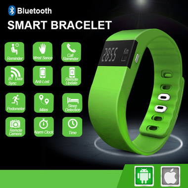 Bluetooth enabled Smart Bracelet Sport Watch with Step Calorie Fitness Tracker P