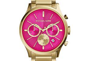 Michael Kors Women's Chronograph Bailey Gold-Tone Watch