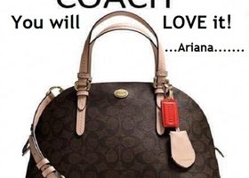NWT Coach Peyton Signature Cora Domed
