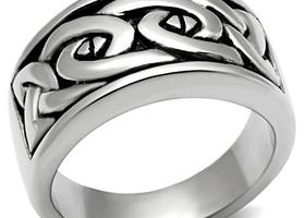 Celtic Knot Stainless Steel Men's Ring