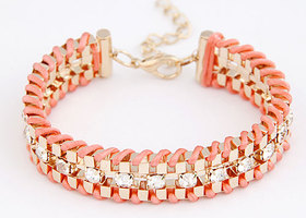 fashion gold color shining gem bracelet