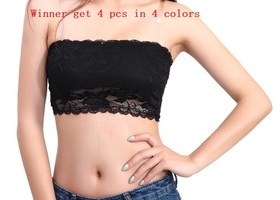 4 PCS Summer Lace Stretchy Chest wrap Tops (no pad)