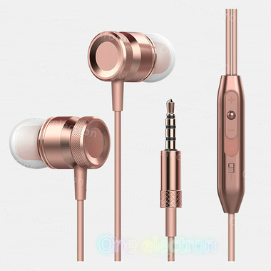 Bass In-Ear Wired Earphones Drive-By-Wire With Mic For Mobile Phone