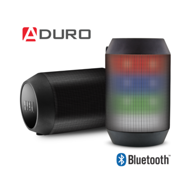 Aduro Amplify Bluetooth Wireless Speaker with LED Color Changing Light Show
