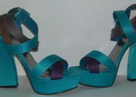 Qupid Colorblock Platform Pumps-Size 8.5-Hot!