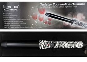 ISO Professional Zebra Twister Clipless Curler - 19mm