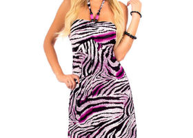 Halter Top Dress Zebra Design S only