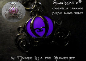 Cinderella Carriage Glow Locket® Purple Violet Glow