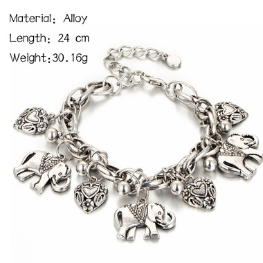 European hot fashion retro carved elephant Anklet Bracelet Anklet jewelry alloy