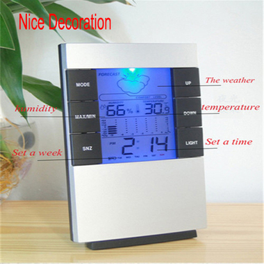 Hot Sale 2017 So Nice Gift Electronic Weather LED Digital Alarm Clock Hot Sellin