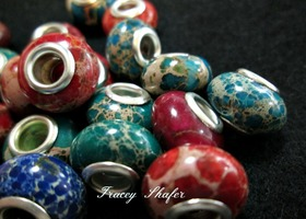 Regalite Gemstone European Beads
