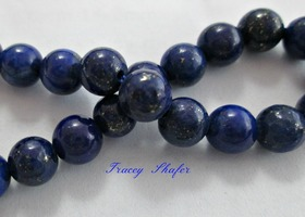 Natural Lapis Lazuli Beads 6mm or 8mm
