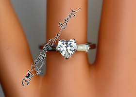 ✦ BMGM 5 6 7 8 9 10 Heart-Cut AAA Grade CZ 316SS Ring