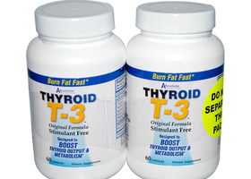 Absolute Nutrition Thyroid T-3 - 60 Capsules Each Pk