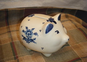 Vintage Delft Piggy Bank