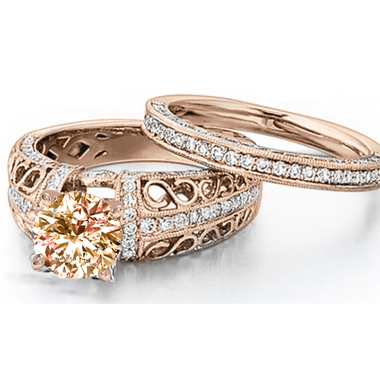 Gorgeous 18K RGP Infinity Ring Set #971