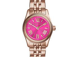 Michael Kors Lexington Petite Pink Dial Rose Gold Watch