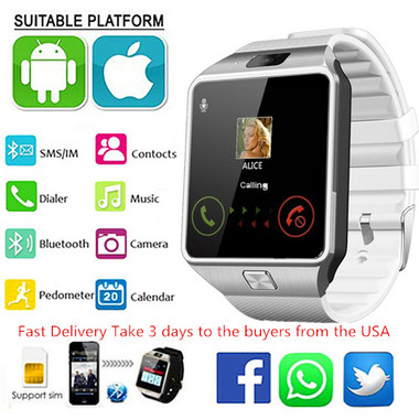 Original DZ09 SmartWatch Bluetooth Touchscreen SIM Card SmartWatch Phone With Sp