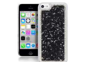 Deluxe Sparkle Clear Crystal Diamond Case For iPhone 5c