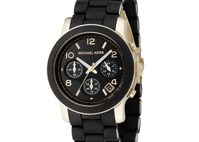 Michael Kors Women's Chronograph Runway Gold-Tone Watch