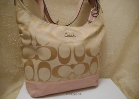 Coach 24CM Signature Large Pieced Duffle