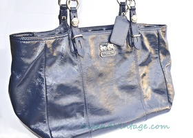 Luxury Coach Mia Patent Leather Tote