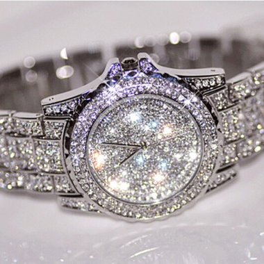 Women's Full Crystal Stainless Steel Watch
