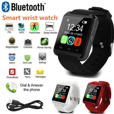 Sports Bluetooth 4.0 for Android IOS Digital Luxury Smartwatch Touch Screen Smar
