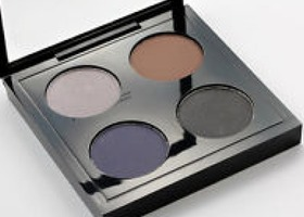 Mac Eyeshadow X 4 Quad Palette Parlor Smoke