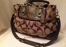 Coach Ashley Spectator Signature Carryall-Barely Used