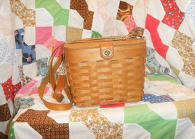 1996 Longaberger Shoulder Basket Bag