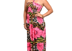 Floral Print Maxi Dress - Size 2X or 3X