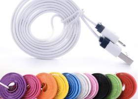 6FT Flat Noodle 8pin USB Cable iPhone 5/5s/5c ~CHOICE~