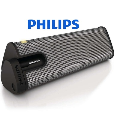 Philips MP3 Universal Portable Powerful 3.5mm Speaker Stand