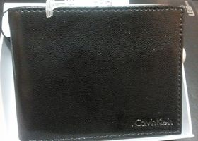NIB CK Passcase Black Shiny Leather WALLET 79376