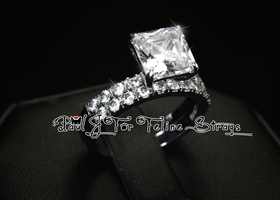 ✦ 5 7 8 9 10 3.55tcw Princess Cut AAA Grade CZ Ring Set