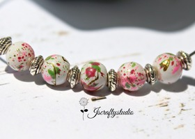 130+ Cherry Blossom Glass Beads