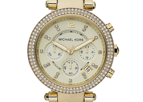 Michael Kors Parker Horn Acetate Stainless Steel Watch