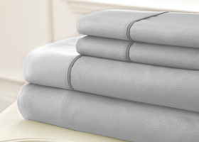 King  4 Piece Embossed Sheet Set SLOAN
