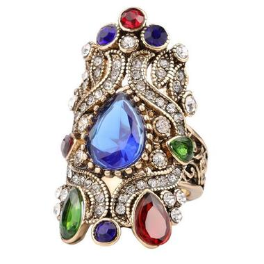 Turkish Bohemian Style High End Crystal Rings