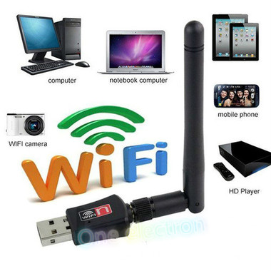 USB Wireless WiFi Adapter WiFi Network Lan Card & External Antenna Networking Ac